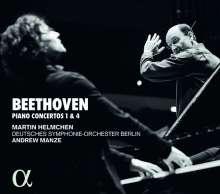 Ludwig van Beethoven (1770-1827): Klavierkonzerte Nr.1 & 4, CD