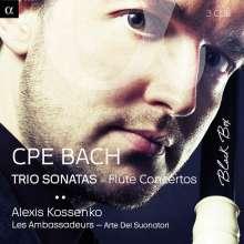 Carl Philipp Emanuel Bach (1714-1788): Flötenkonzerte Wq.13,22,166-169, 3 CDs