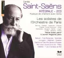 Camille Saint-Saens (1835-1921): Kammermusik für Bläser, 2 CDs