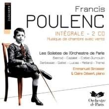 Francis Poulenc (1899-1963): Kammermusik für Bläser, 2 CDs