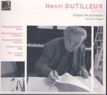 "Henri Dutilleux (1916-2013): Kammermusik mit Klavier ""Youthful Pages"", CD"