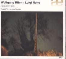 Wolfgang Rihm (geb. 1952): Sieben Passions-Texte, CD