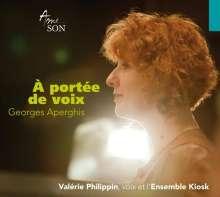 Georges Aperghis (geb. 1945): A Portee de Voix - Lieder für Stimme & Ensemble, 1 CD und 1 DVD