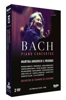 Johann Sebastian Bach (1685-1750): Klavierkonzerte BWV 1054-1058, BWV 1061-1065, 2 DVDs
