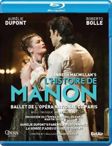 Ballet de l'Opera National de Paris - L'Histoire de Manon, Blu-ray Disc