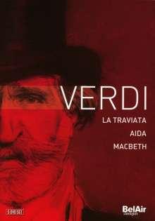Giuseppe Verdi (1813-1901): Verdi (3 Operngesamtaufnahmen), 5 DVDs
