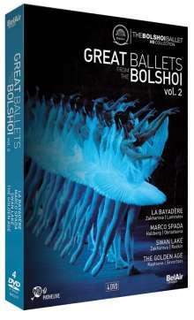 Bolshoi Ballett - Great Ballets From The Bolshoi Vol.2, 4 DVDs