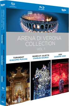 Arena Di Verona Collection Vol.1, 3 Blu-ray Discs