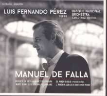 Manuel de Falla (1876-1946): Nächte in spanischen Gärten für Klavier & Orchester, CD