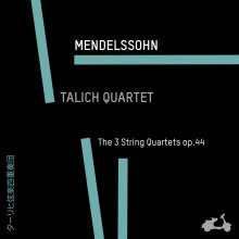 Felix Mendelssohn Bartholdy (1809-1847): Streichquartette Nr.3-5, CD