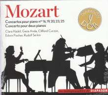 Wolfgang Amadeus Mozart (1756-1791): Klavierkonzerte Nr.16,19,20,23,25, 2 CDs
