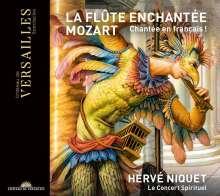 Wolfgang Amadeus Mozart (1756-1791): Die Zauberflöte (in frz. Sprache), 2 CDs, 1 DVD und 1 Blu-ray Disc