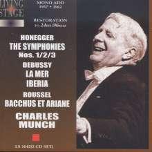 Arthur Honegger (1892-1955): Symphonien Nr.1-3, 2 CDs