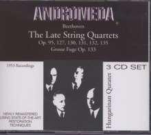 Ludwig van Beethoven (1770-1827): Streichquartette Nr.11-16, 3 CDs