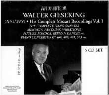 Walter Gieseking - His Complete Mozart Recordings Vol.1, 5 CDs