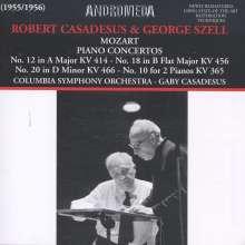 Wolfgang Amadeus Mozart (1756-1791): Klavierkonzerte Nr.10,12,18,20, 2 CDs
