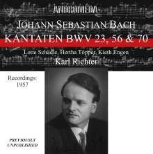 Johann Sebastian Bach (1685-1750): Kantaten BWV 23,56,70, CD
