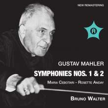 Gustav Mahler (1860-1911): Symphonien Nr.1 & 2, 2 CDs