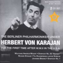 Berliner Philharmoniker & Herbert von Karajan  - For the first time after W.W.II in the U.S.A., 2 CDs