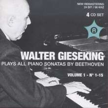 Walter Gieseking spielt Klaviersonaten von Beethoven Vol.1, 4 CDs