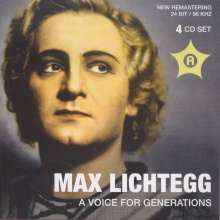 Max Lichtegg  - A Voice For Generations, 4 CDs