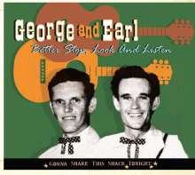 George & Earl  (George McCormick & Earl Aycock): Better Stop, Look And Listen, CD