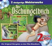 Disney Kinoklassiker. Dschungelbuch 1und 2, 2 CDs