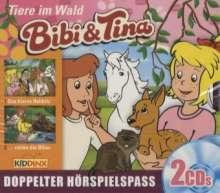 Ulf Tiehm: Bibi und Tina. Tiere im Wald, 2 CDs