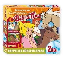 Ulf Tiehm: Bibi und Tina. Wildpferde Teil 1+2, 2 CDs