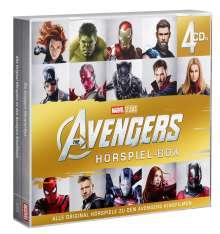 The Avengers Hörspiel-Box 1-4, 4 CDs