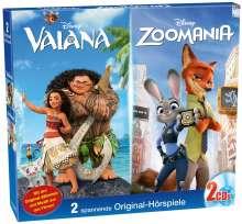 Disney Doppel-Box: Vaiana / Zoomania, 2 CDs