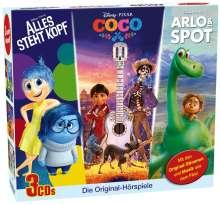 Disney/Pixar 3 CD-Box : Arlo & Spot,  Alles steht Kopf,  Coco, 3 CDs