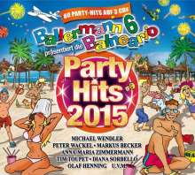 Ballermann Party Hits 2015, 3 CDs