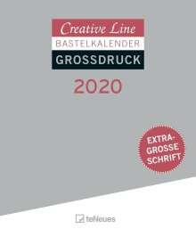 Creative Line Bastelkalender 2020 Großdruck, Diverse