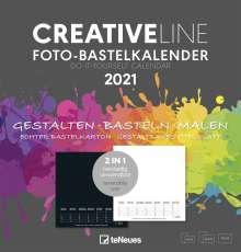 Foto-Bastelkalender 2 in 1 2021 - Kreativ-Kalender - DIY-Kalender, Kalender