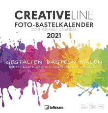 Foto-Bastelkalender weiß 2021 - Kreativ-Kalender - DIY-Kalender - 21x22 - datiert, Kalender