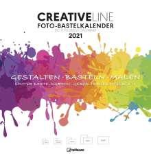 Foto-Bastelkalender groß weiß 2021 - Kreativ-Kalender - DIY-Kalender - 32x33 - datiert, Kalender