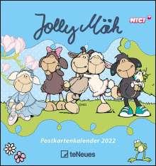 Jolly Mäh 2022 - Postkarten-Kalender, Kalender