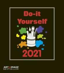 Do-it-yourself Bastelkalender 2021 klein. Bastelpapier schwarz, Kalender