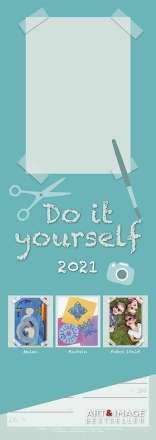 Do-it-Yourself Bastelkalender 2021 Streifenkalender, Kalender