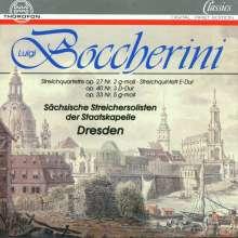 Luigi Boccherini (1743-1805): Streichquartette op.27,2;op.33,5;op.53,2 (alte op.40,3 G.342), CD