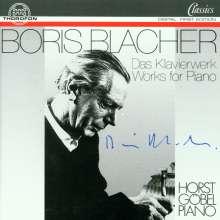 Boris Blacher (1903-1975): Sämtliche Klavierwerke, CD