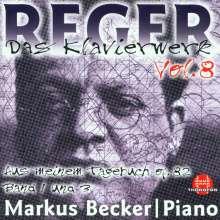 Max Reger (1873-1916): Das Klavierwerk Vol.8, CD