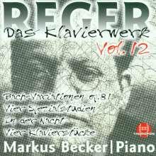Max Reger (1873-1916): Das Klavierwerk Vol.12, CD