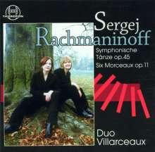 Sergej Rachmaninoff (1873-1943): Symphon.Tänze op.45 Nr.1-3 (f.2 Klaviere), CD