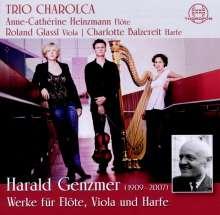 Harald Genzmer (1909-2007): Werke für Flöte, Viola & Harfe, CD