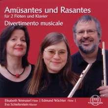 Elisabeth Weinzierl, Eva Schieferstein  & Edmund Wächter - Amüsantes und Rasantes für 2 Flöten & Klavier, CD