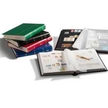 Briefmarken Einsteckbuch BASIC, 64 schwarze Seiten, Einband unwattiert in Rot, DIN A4, Diverse