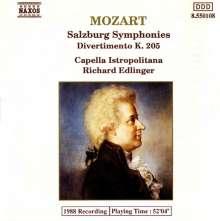 Wolfgang Amadeus Mozart (1756-1791): Divertimento KV 136-138,205, CD