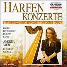 Andrea Vigh spielt Harfenkonzerte, CD